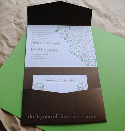 DIY Wedding Invitations Templates | Invitation Template And DIY Party Invitations How-to Instructions