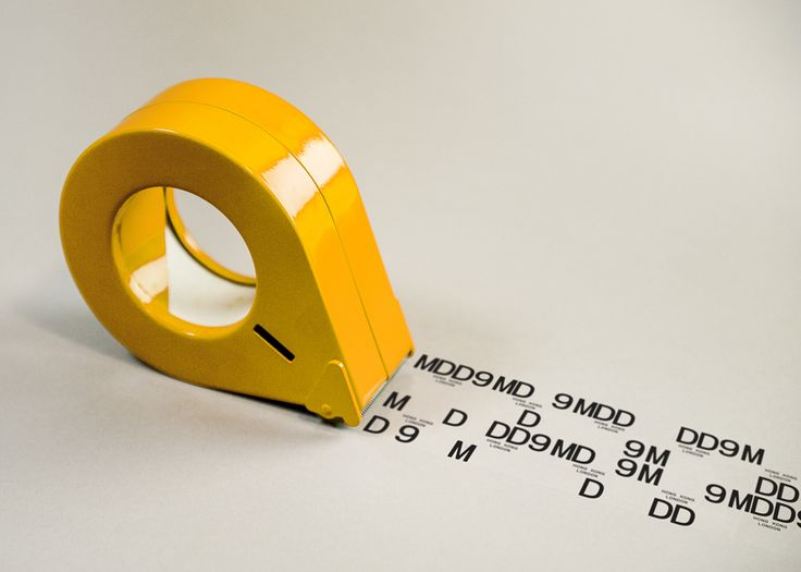 Logo and tape designed by Two Times Elliott for interior and architecture firm MDD9