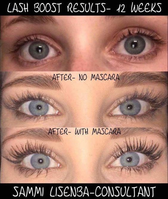 93946fb3ece These are some amazing Lash Boost Results from one of out R+F consultants! Long  Lashes...LOVE! #Lashes
