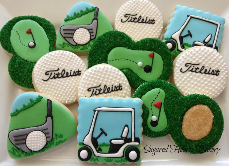 Golf Cookies by Sugared Hearts Bakery | Cookie Connection