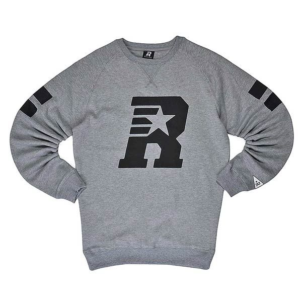 rucker park R STRIPES CREWNECK gravel heather