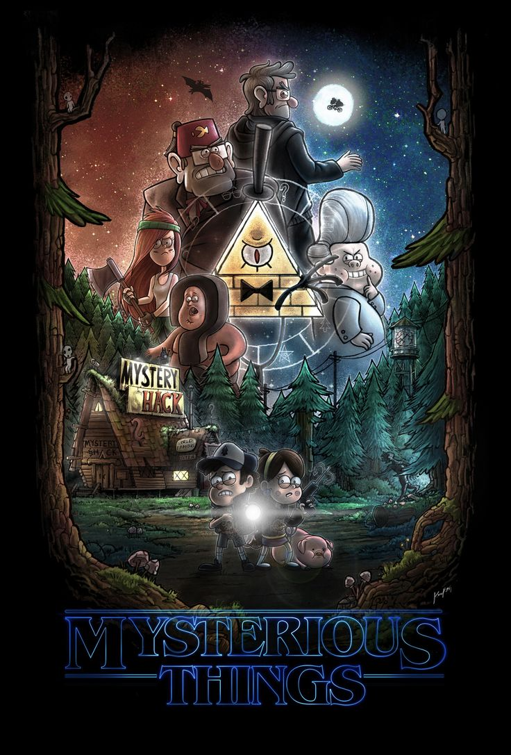 Coming to a theater near you HOLY SHIT YES Gravity Falls x Stranger Things!!!!