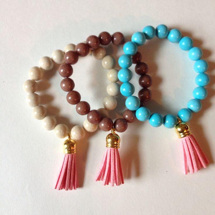 Pink Tassel Bracelets