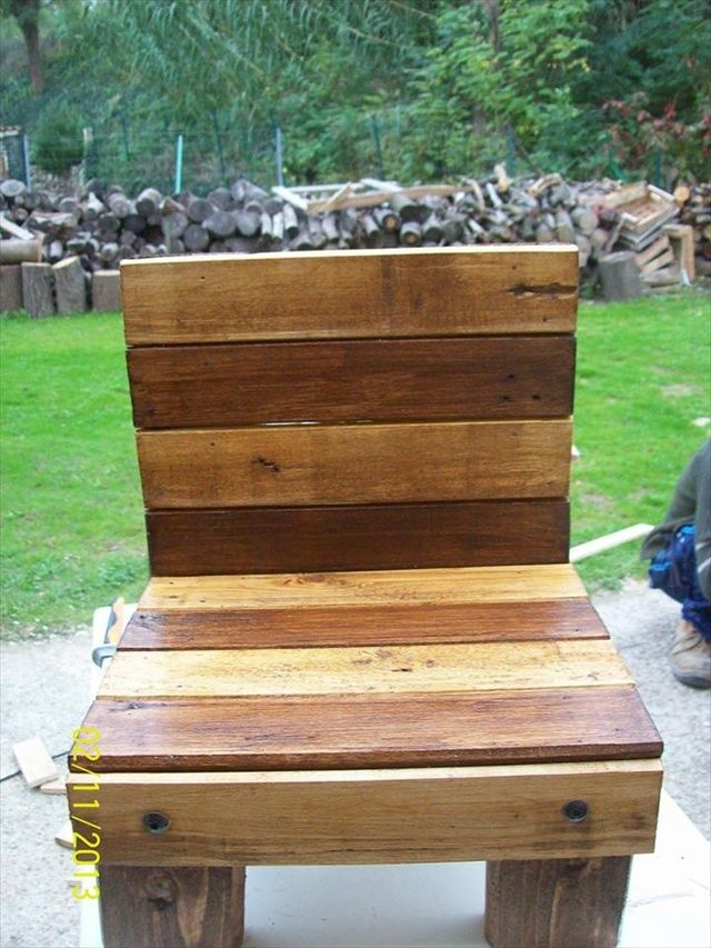diy pallet projects instruction pallet chair free