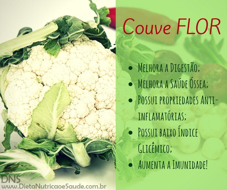 A Couve Flor serve tanto como base para diversos pratos como vai muito bem em saladas por exemplo. 😍😋  www.dietanutricaoesaude.com.br  Com um sabor neutro combina com quase tudo agregando ainda mais nutrientes nas refeições!  A Couve Flor é fonte de:  - Fibras; - Vitaminas: B5, B6, B9, C e K1; - Minerais: Magnésio, Potássio, Cálcio, Ferro, Fósforo e Manganês.  E você, costuma consumir Couve Flor? Qual seu prato favorito com ela?
