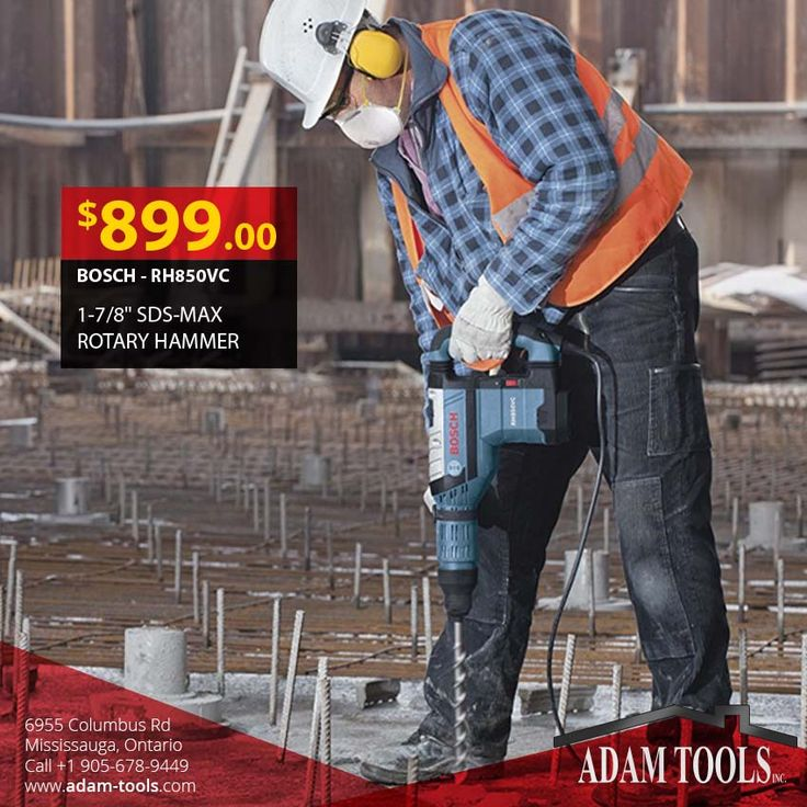 """Searching for the construction industry's best rotary hammers? Look no further than Bosch - Rh850vc 1-7/8"""" sds-max rotary hammer Visit our website for more information  http://www.adam-tools.com/bosch-rh850vc-1-7-8-sds-max-rotary-hammer.html #canada #mississuaga #power_tools #building_supplies #adamtools #shop_online #buy_online #RotaryHammer #Bosch #BoschLaser #BoschTools #Shopping #QualityTools #OnSale #GreatDeals #bosch #powertools #drill #powerdrill #BoschLife #hammerdrill #contractors…"""