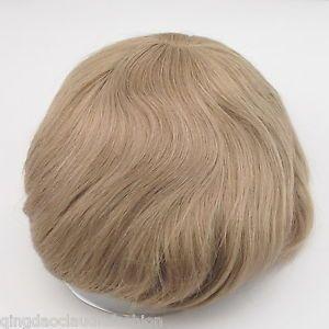Human Hair Black Brown Mens Toupee Hair System Hairpiece for Men Base Cutable | eBay