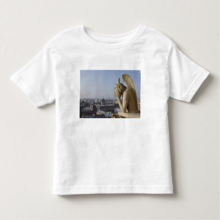 Gargoyle and views of Paris from Notre Dame Toddler T-shirt - click/tap to personalize and buy