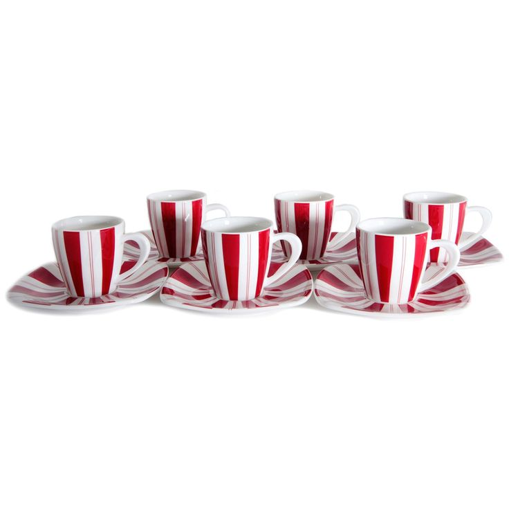 Tuxedo Rouge 3-ounce Tea Cup and Saucer