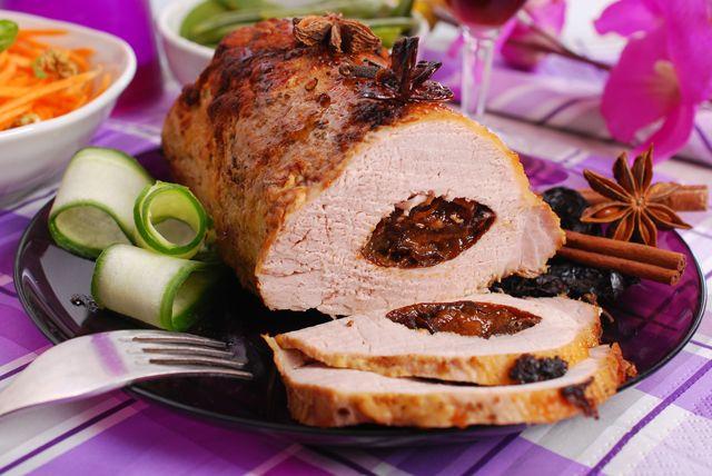 lomo de cerdo en ciruelas