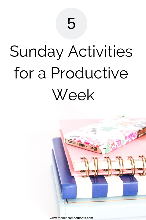 Sunday is the perfect day to set your work week for success with these 5 steps. …