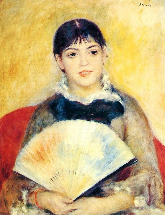 Woman with a Fan  -  1880. Пьер Огюст Ренуар