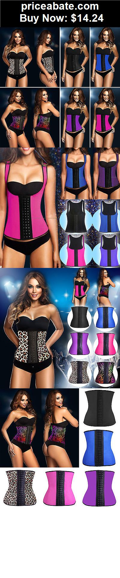 Women-Shapewear: Women Latex Rubber Waist Training Cincher Underbust Corset Body Shaper Shapewear - BUY IT NOW ONLY $14.24