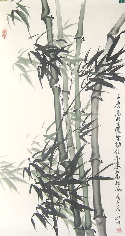 chinese ink Bamboo paintings ... when i visit HK, this will be the thing i purchase as my souvenir