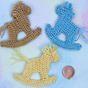 Crochet Patterns for Motifs for Scrapbooking, card making and appliqué