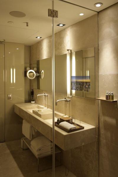 Image Of Magic Mirror TV in Bathroom
