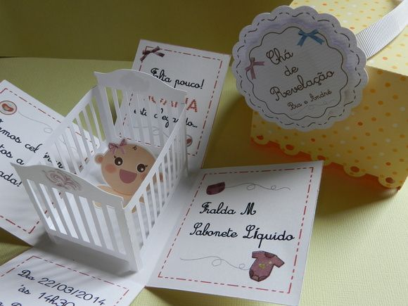 Convite Chá de Bebê - Chá de Revelação