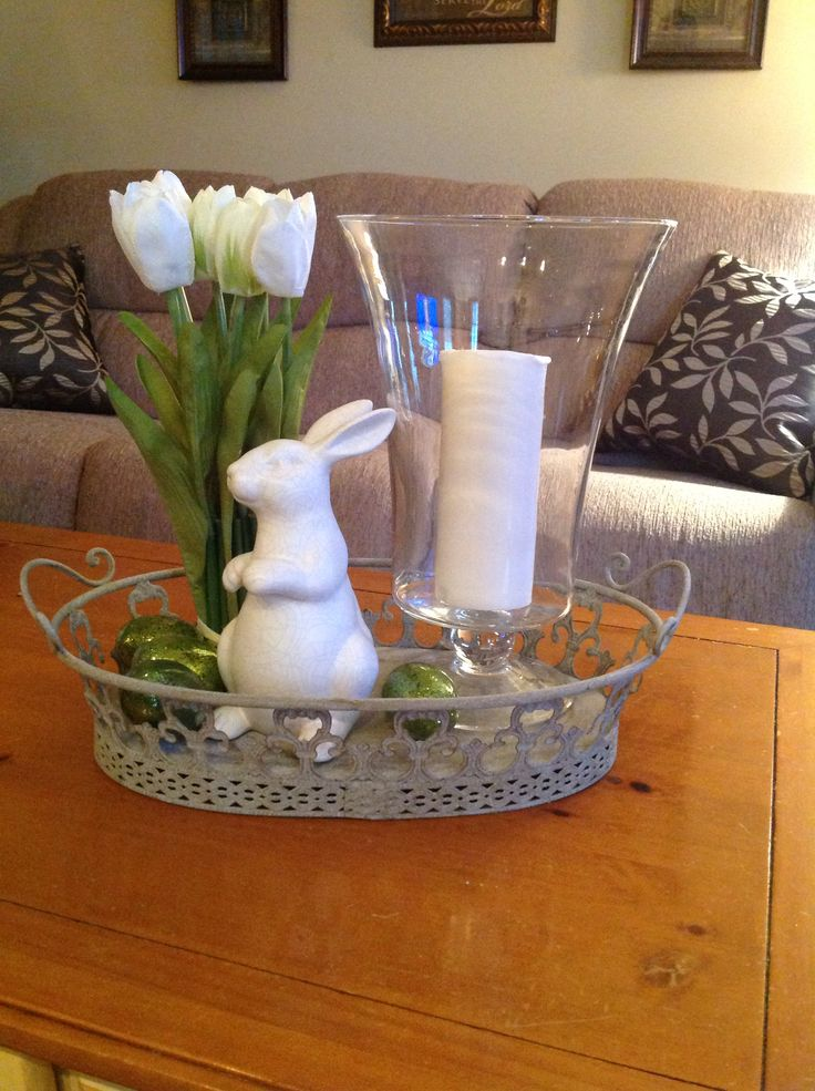 Coffee Table Arrangement Decorating For Spring Pinterest Coffee Table Arrangements
