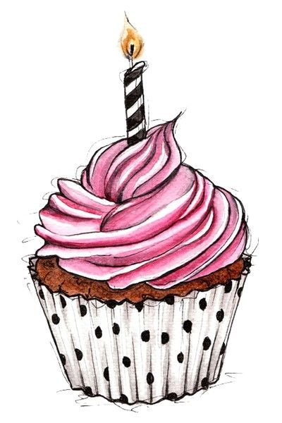 cupcake illustration for graphic