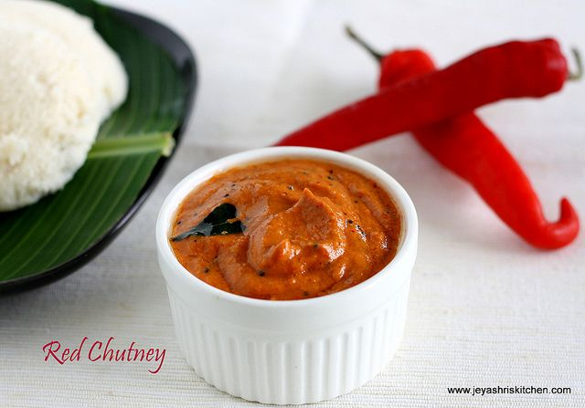 Red Jalapeno Chutney, Side Dish For Idli or Dosa