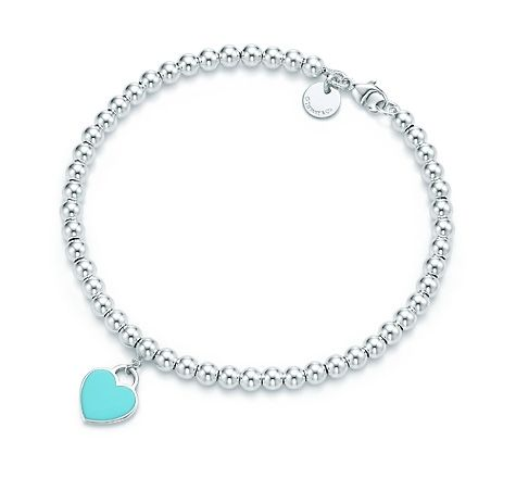 Tiffany & Co. | Item | Return to Tiffany™ mini heart tag in sterling silver on a bead bracelet. | Australia