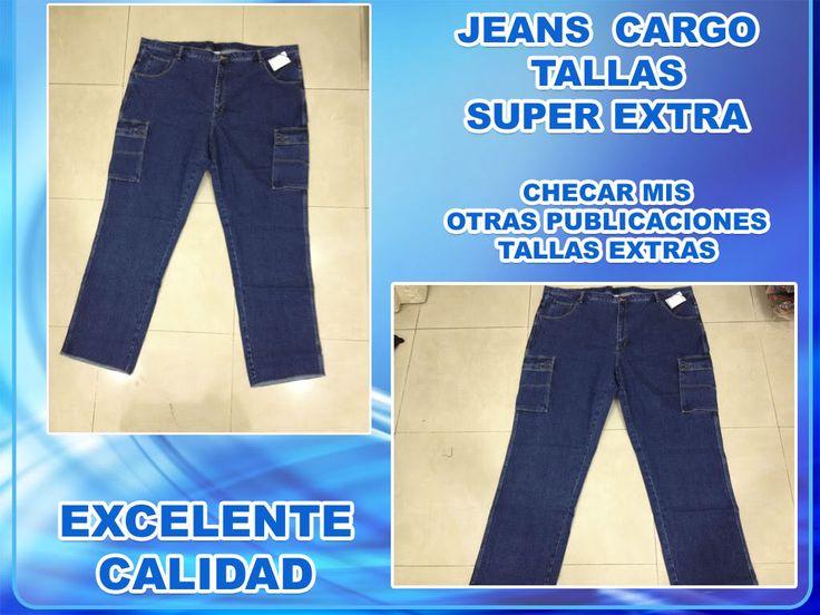 Compra Jeans Cargo Para Hombre Tallas Super Extras Hasta La 64 en Distrito Federal a 289 - Ropa, Bolsas y Calzado, Pantalones, Jeans y Leggins, Hombre, Jeans | PreciosBajos.co