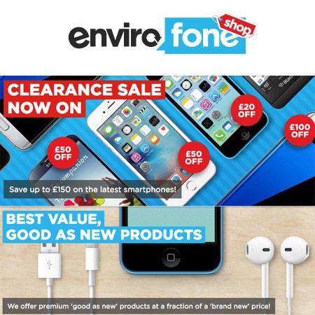 Envirofone Refurbished Smartphone Sale  #Refurbished #TheOnlyWayIsEthics