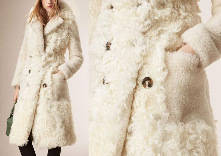 Winter Fashion Edit, @burberry Fitted Contrast Shearling Coat, £6,000.00