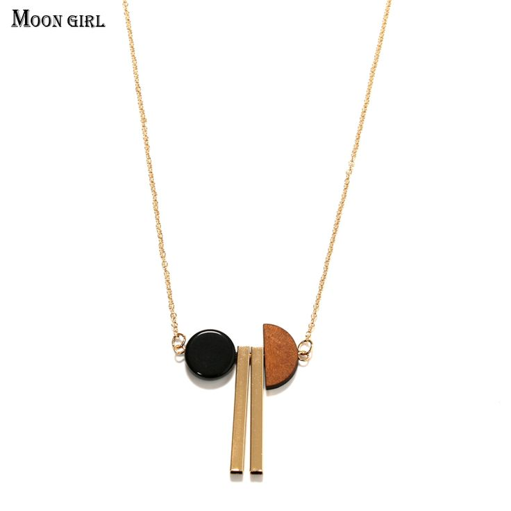 Aliexpress.com : Buy Moon girl Gold Plated Color retention Chain Long Necklace 2017 Summer Simple Fashion Jewelry Necklaces & Pendants for women  from Reliable pendant jewelry box suppliers on moon girl