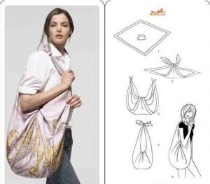 Ways to wear a square scarf