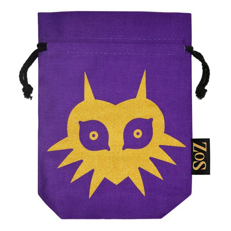 Zelda Inspired Drawstring Bag Majoras Mask Edition Zos Premium Gaming Memorabilia Jewellery And Ocarinas Hylian Life Pinterest