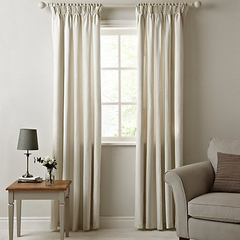 Buy John Lewis Wide Maison Stripe Lined Pencil Pleat Curtains Grey Online At Johnlewis