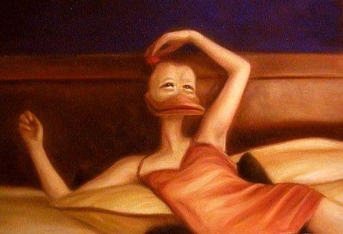 """Ruusu Maritalle"" (A Rose for Marita)   2000   Oil on canvas  "