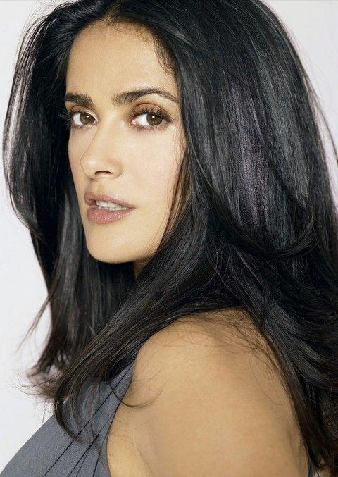 Salma Hayek Hairstyles: Fluffy Straigh Haircut I WANT THIS HAIR STYLE!!!
