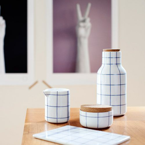 The minimalistic yet nostalgic Mormor tableware beautiful contemporary surroundings! Photo credit 204park!