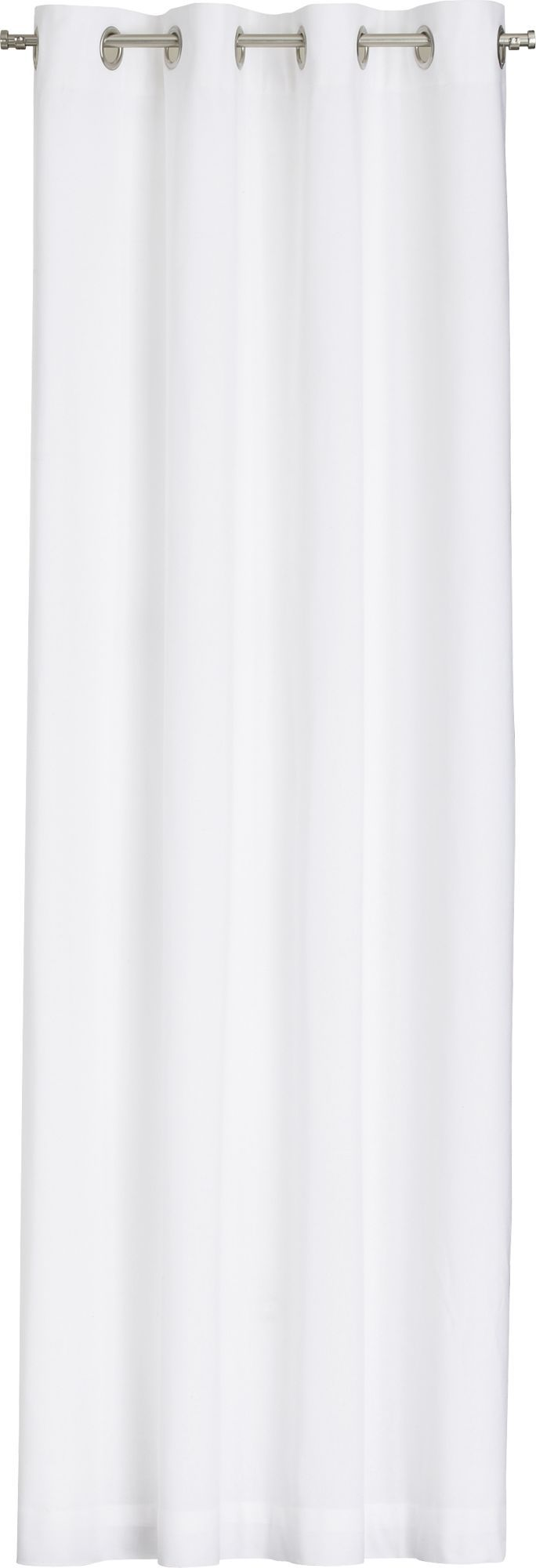 White curtain panels - Wallace White Grommet Curtain Panel In Curtains Crate And Barrel 52x84 80