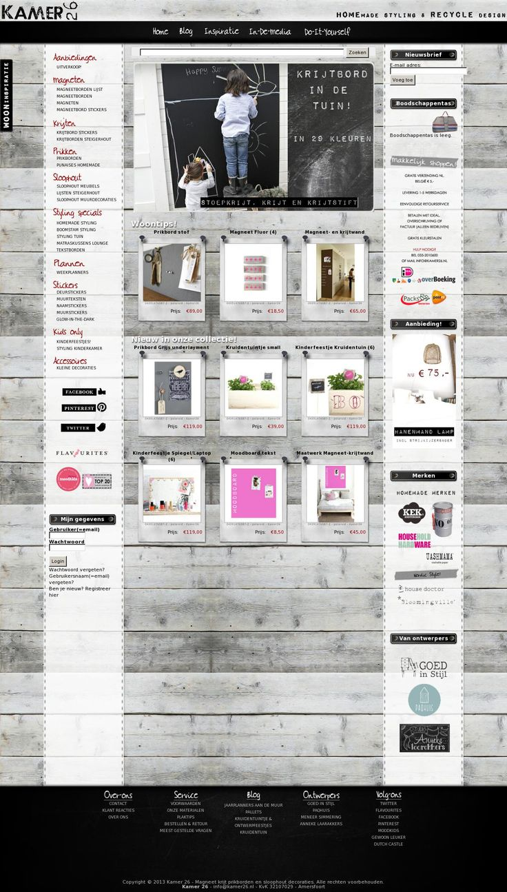 www.kamer26.nl Kamer 26 ontwerpt met stickers, oud hout en boomstam, decoraties voor huis, tuin en kids. Daarnaast ontwerpen ze planborden (magneet-krijt) voor kinderen, ouders en begeleiders, die functioneel en ook decoratief zijn! #webshop