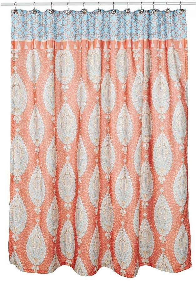 Dena Home Kaiya Moroccan Trellis Shower Curtain Moroccan Trellis