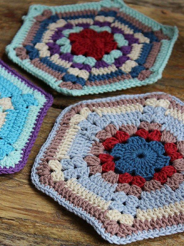 Old Timey Potholders Free Crochet Pattern | Kreise Häkeln | Crochet ...