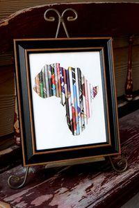 Image of 8x10 Black Framed Rolled Art-Africa OR Cross