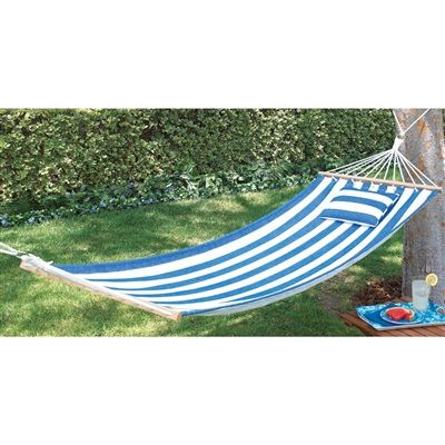 treat yourself to the free swinging  fort that only a hammock can give with this snappy blue striped single person cotton model  includes a pillow  92 best super  fortable hammocks images on pinterest   hammock      rh   pinterest