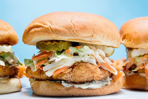 Find the recipe for Fried Chicken Cutlet Sandwich with Buttermilk Slaw and Herbed Mayo and other chicken recipes at Epicurious.com
