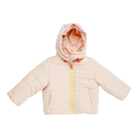 Stella McCartney Hubert Puffer Jacket with Removable Hood Pink