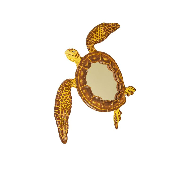 Mirror of a sea turtle - very large wall mirror in the form of a swimming sea turtle. Ideal for on your wall - impressive hand painted art work from the Dutch studio @ MarvellousMirrors.nl. Now also available at Etsy and Amazon handmade. Enjoy the love for sea turtles - collectors item for sure ;)