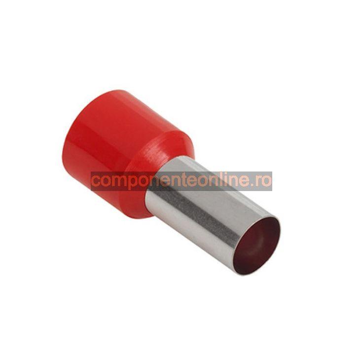 Terminal izolat, tubular, rosu, fir 35mm² - 402532