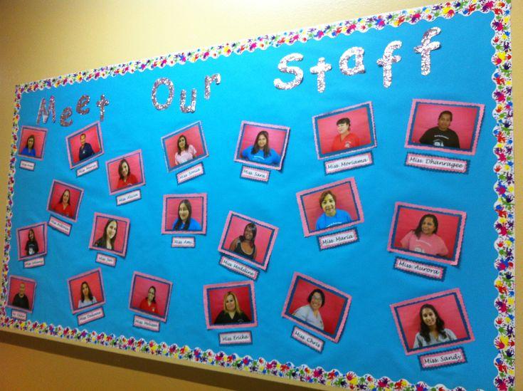 Meet our staff bulletin board..