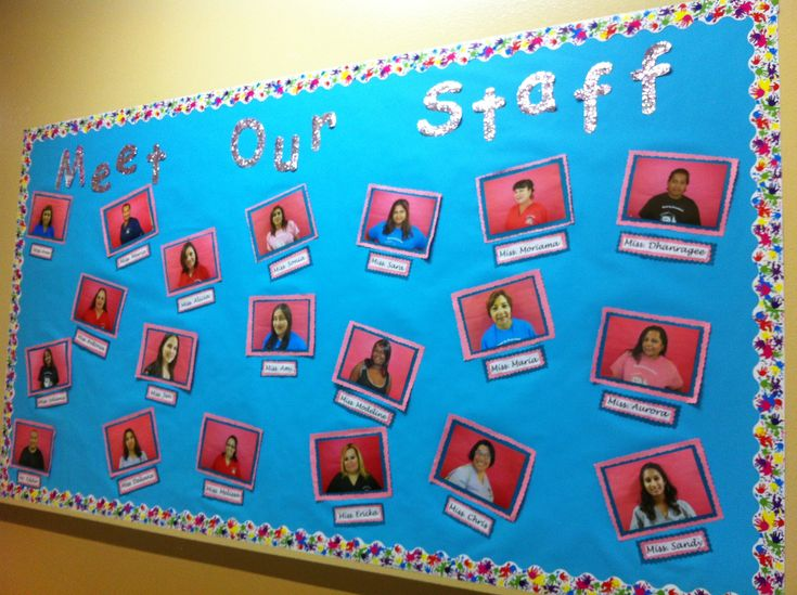 Meet our staff bulletin board..