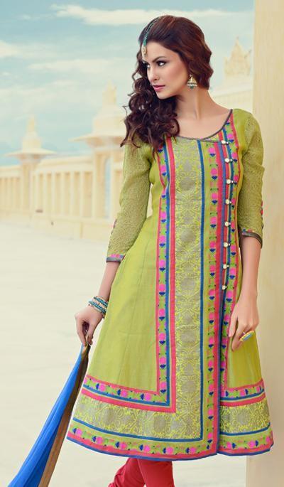 G3 fashions Pastel Green Cotton Wedding Wear Designer Salwar Suit  Product Code : G3-LSA104637 Price : INR RS 5840
