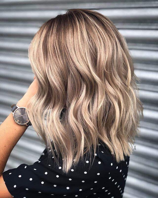 #Einfache Frisuren zum Ausgehen #Mode #Frisur #Lob #Wavy 25 Wavy Lob Hairst …