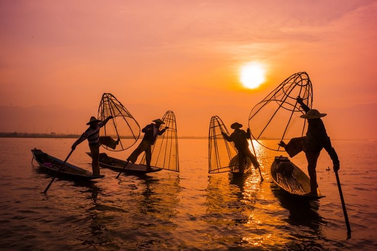 Stilt Fishermen Of Inle Lake by K. Chae on 500px